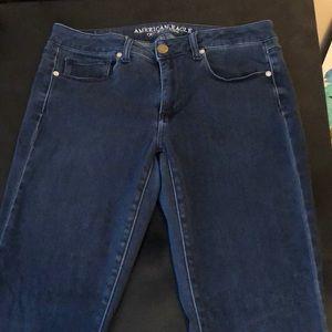 American Eagle dark blue skinny jeans size 12